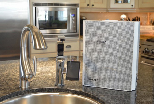 Alkaline Water Ionizers - Chanson Miracle Max Royale 7 Plate Under Countertop - Faucet Installed