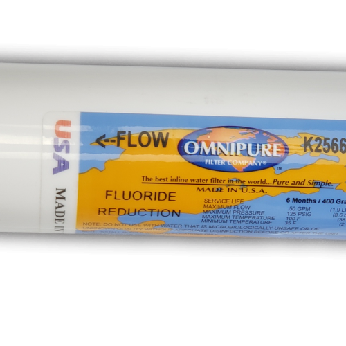 Alkaline Water Ionizers - Chanson Omnipure K2566BB Inline Fluoride Reduction Filter